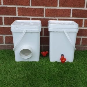 Chicken feeder and waterer midi pack
