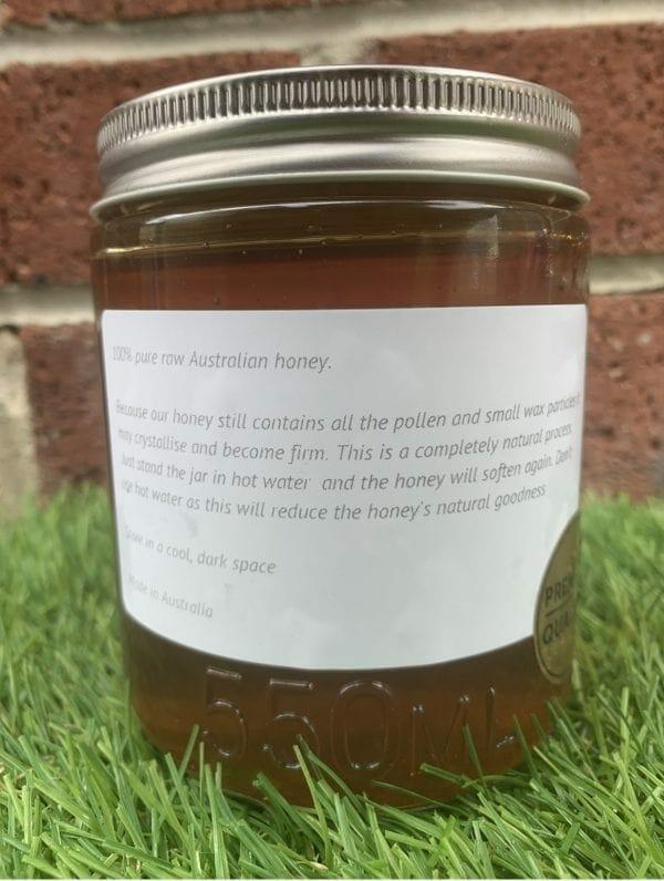 Raw Honey Jar Rear