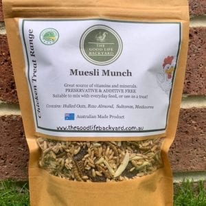 Treat your chickens muesli munch