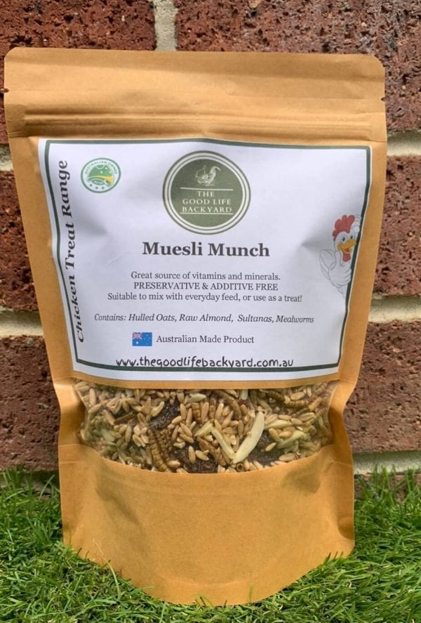 Treat your chickens muesli munch