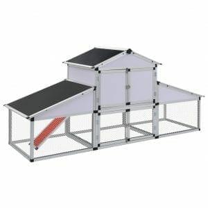 aluminum coop assembled